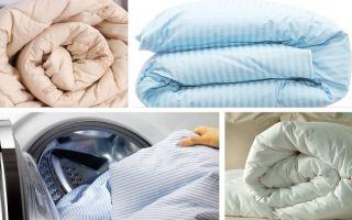 Как постирать пуховое одеяло в стиральной машине