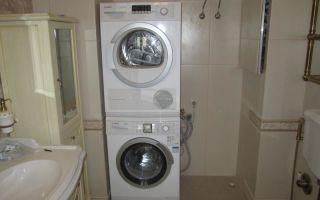 Как установить сушильную машину на стиральную в колонну?