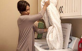 Как правильно стирать плед