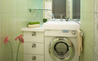 Стиральная машина в маленькой ванной – особенности дизайна