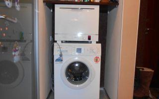 Можно ли на стиральную машину поставить посудомойку