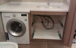 Розетка под стиральную машину в ванной