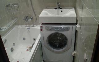 Установка стиральной машины под раковиной – советы