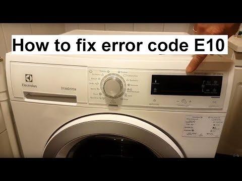 Код ошибки e10 на стиральной машине electrolux
